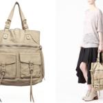 Hermoso bolso para mujer hecho de piel  lavada