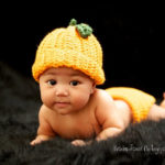 Sombrero para bebe recién nacido , modelo calabaza