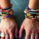 Diseña tu propia pulsera envuelta con hilo de algodón
