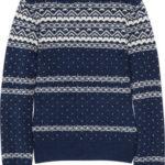 Suéter de mujer color azul marino