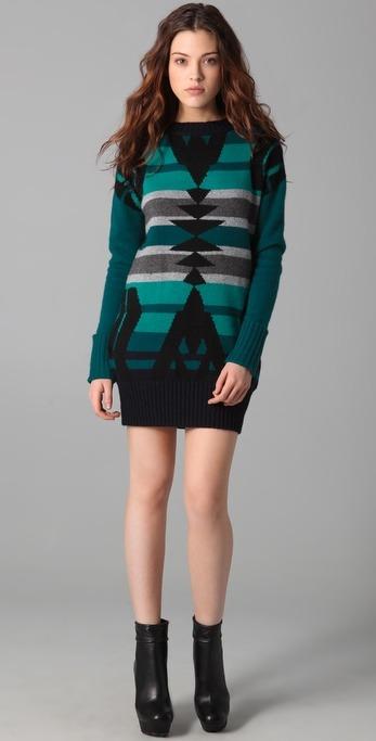 Suéter tejido a dos agujas para mujer