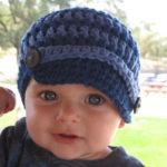 Gorro tejido a crochet de niño en etsy.com