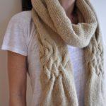 Bufandas de lana a dos agujas