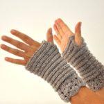 Hermosos guantes de mujer tejidos