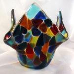 Florero de cristal para centros de mesa
