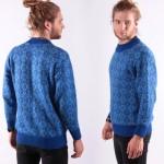 Ropa casual para hombres: Suéter de lana azul