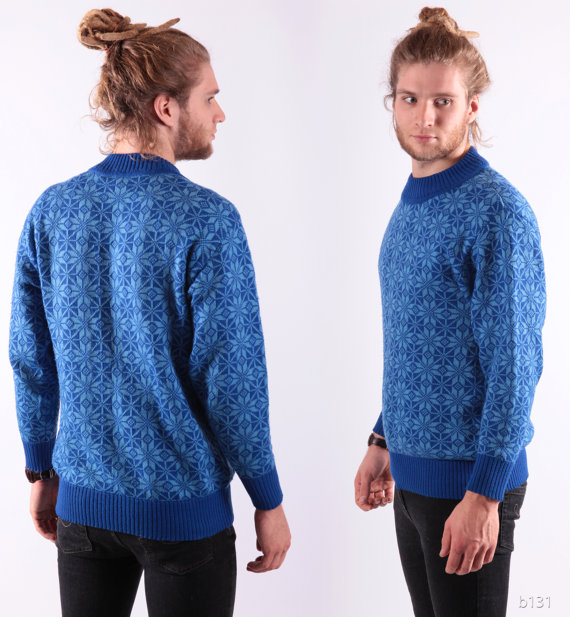 Ropa casual para hombres: Suéter de lana azul | Yo Utilísima