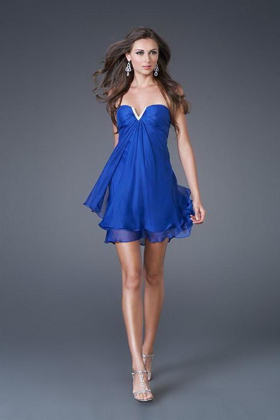 51bffceda Vestidos de noche color azul pavo - Vestido azul