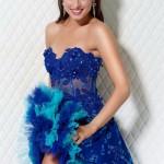 Vestidos azules de fiesta 2012