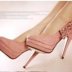 Zapatos de vestir con tacón alto  y cristales brillantes