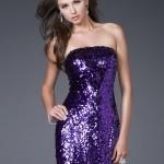 Vestidos elegantes y de fiesta color púrpura