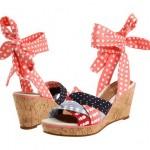 Zapatos de tacón de cuña para el verano