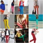 Pantalones de color para mujer