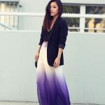 Tendencias de faldas maxi de moda