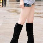 La moda de las botas de gamuza para mujer