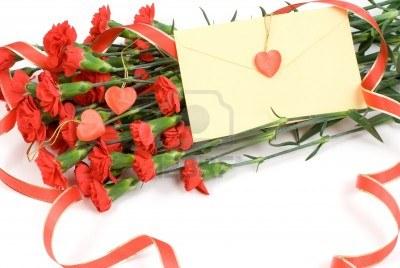 10279515-ramo-de-claveles-rojos-y-la-letra