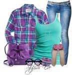 Ideas para combinar tus blusas a cuadros
