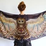 Increibles bufandas alas de pájaro de Roza Khamitova