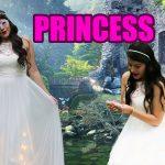 Vestido de princesa con luces para Halloween