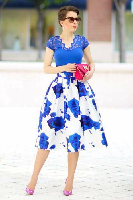 06a3315564 Ideas de outfits con faldas Midi para primavera!