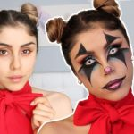 Maquillaje de payaso para fiesta de Halloween!