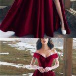 Vestidos largos y elegantes en color borgoña